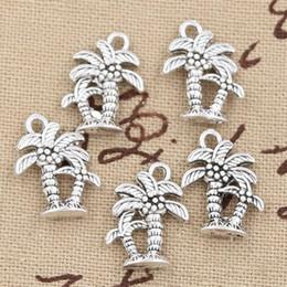 Wholesale Diy Coconut Tree - Wholesale-20pcs Charms palm tree coconut 18*13mm Antique pendant fit,Vintage Tibetan Silver,DIY for bracelet necklace