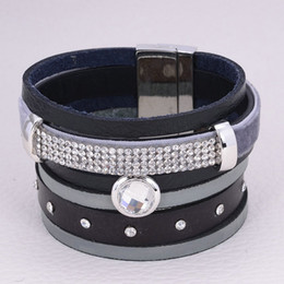 Wholesale Brazilian Magnetic - Wholesale-Wrap Bracelet,Brazilian Style wide Magnetic wrap Bracelets,real leather bracelet with magnetic clasp,mold 50961