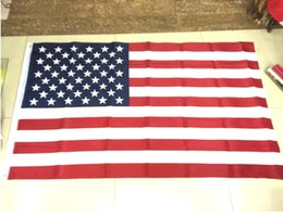 Wholesale Cheap Banners - DHL US American Flag USA Flags 3x5 FT National Flag Bannner Home Office Outdoor Decoration Quality Cheap Price 150*90 CM Banners
