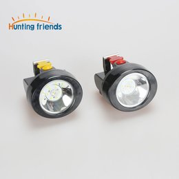 Wholesale Led Mining Cap Lights - New 2017 Safety Miner Lamp KL2.8LM Rechargeable 1+ 3 LED Mining Cap Light waterproof camp lamp Explosion Rroof Headlight
