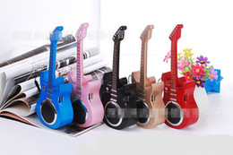 Wholesale Model Guitar - Wholesale- C-330 wireless Bluetooth speaker guitar model car With TF USB FM Mic Blutooth Music For Car Mobile Phone iPhone