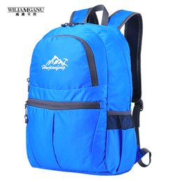 Wholesale Soild Gold - Wholesale- WILIAMGANU 2017 Hot Portable Travel Backpacks Zipper Soild Nylon Back Pack Women Men Shoulder Bags Folding Bag