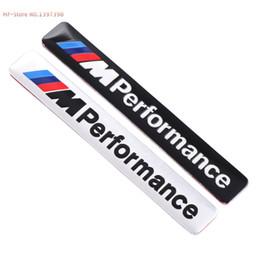 Wholesale M5 Performance - Car Styling Motosport M Performance Car Door Sticker Badge For BMW Decal M3 M5 X1 X3 X5 X6 E36 E39 E46 E30 E60
