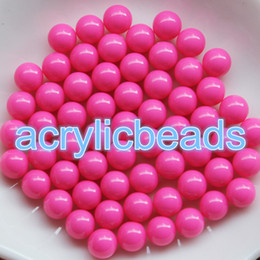 Wholesale Acrylic Craft - no Hole 12MM Pastel Plastic Gumball Balls Opaque Solid Acrylic Round Beads without Hole Craft Making Charms DIY 100pcs