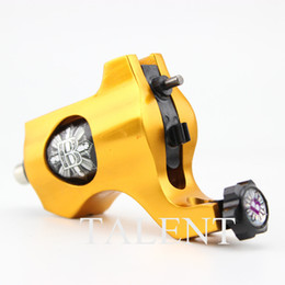 Wholesale Rotary Tattoo Machine Rca - Wholesale- High Quality CNC Aluminum Professional Golden Anodized Rotary Tattoo Machine with Silicon RCA Cord for Professional Tattooing.