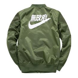 Wholesale Japanese Fashion Coats - Big sam KANYE WEST tour MA1 pilot jackets kanji black green flight japanese MERCH BOMBER MA-1 Coats Jackets