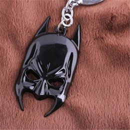 Wholesale High Quality Batman Mask - Batman Mask Key Chain Alloy Black Car Key Rings & keychain Jewelry For Gift High Quality Hot Sale