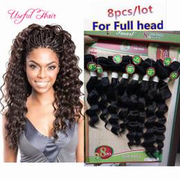 Wholesale Black One Piece Curly Hair - high quality 8pcs one head brazilian hair bundles body wave hair weaves Brazilian hair mongolian curly ombre bug,black human for black women