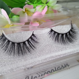 Wholesale Mink Eyelash Wholesale - 2017 10 Pairs Natural Mink Strips Thick Cross Natural False Eyelash 3D Eyelash Extensions factory supply for sale