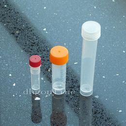 All'ingrosso- 50 pezzi 10ml Provette Vial Screw seal Cap Pack container Stoccaggio polvere artigianale campione Plastica supplier wholesale test tubes caps da tappi per tubi di prova all'ingrosso fornitori