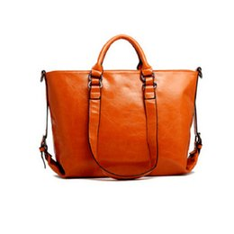 Wholesale Trend Shell Bag - Wholesale- 2017 Fashion Trend Handbag Shoulder Bag Women's Oil Wax Crossbody Bag Leather Waterproof High Quality Free Shipping P494