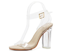 Wholesale Sexy Gladiators Shoes - Sexy Shoes Gladiator Women Pumps Perspex Platform High Heels PVC Clear Crystal Classic Buckle Strap Fashion #Y0593009G NX7