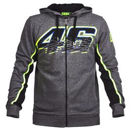 Wholesale Racing Jacket Coat - 2017 New Motorcycle VR46 Valen Rossi Cotton Hoodies MotoGP Racing Jackets Motorbike motocross NO.46 casual sweater coat Free shipping