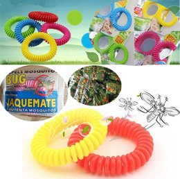 Wholesale New Mosquito Repellent Bracelet Stretchable Elastic Coil Spiral hand Wrist Band telephone Ring Chain Anti mosquito bracelet I010