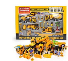 Wholesale Toys Model Fire Car - Kids Toys New 1:50 Alloy Engineering Toy Car Mining Car Fire Car Truck Educational Children Birthday Present Diecasts & Toy Vehicles