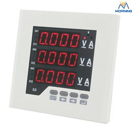 Wholesale Led Digital Volt Meter Ac - ME-3UIF23 three phase AC 220V LED digital only ac volt and current combined meter of high quality