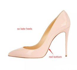 Wholesale Ladies Dress Shoes Medium Heel - Ladies Handmade Fashion high heels so-kate 120mm Pointed Toe Classic Party Slim Heel Pumps Stiletto Shoes nude patent leather heels