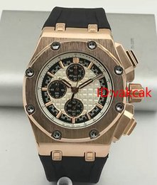 Wholesale Men Watch Royal - Luxury Brand silver Blue Rubber Band Royal Oak Offshore Sports Mens Watch Chronograph Stopwatch Limited Edition Man Watches Wristwatches