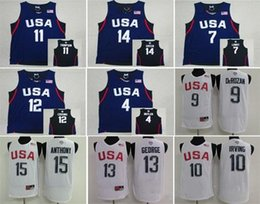 Wholesale Basketball Jersey Usa - 2016 USA Dream Team 12 Basketball Authentic Jerseys #5 Kevin Durant #10 Kyrie Irving #11 Klay Thompson #14 Draymond Green Jersey