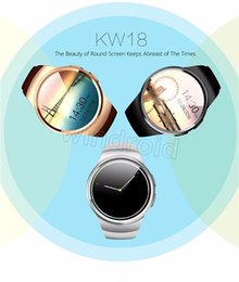 Wholesale Cheap Sleep - Cheap KW18 Smart Watch Bluetooth Heart Rate Monitor Intelligent smartWatch Support SIM TF Card for apple samsung Phone with retail box