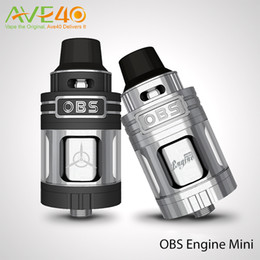 Wholesale Engine Mini - OBS Engine Mini RTA Atomizer Tank 3.5ml Capacity Side Filling 23mm with POM Drip Tip Fit Limitless LUX 215w