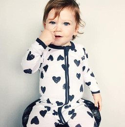 Wholesale Halloween Toddler Outfits - INS Baby Romper Boys Girls Outfits Floral Dot Striped Long Sleeve Zipper Romper Jumpsuit Toddler Infant Jumpsuit Baby Romper KKA2455