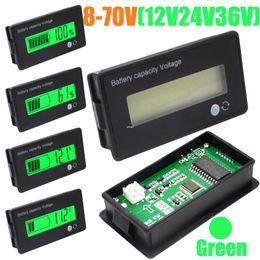 Wholesale Voltmeter 36v - Freeshipping 5pcs lot 12V 24V 36V 48V LCD Acid Lead Lithium Battery Capacity Indicator Digital Voltmeter Voltage Tester