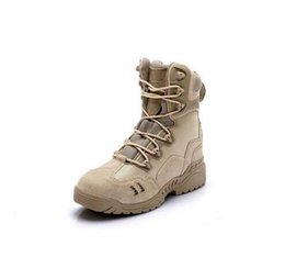 Wholesale Boots Tactical Khaki - High-Top Tactical Boots Men Ankle Desert Boots Military Combat Shoes Wearable Durable Army Boots 39-45