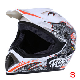 Wholesale Helmet Locks - Wholesale- Motorecycle Full Face Helmet Motocross Dirt Bike Racing Helmet Breathable Motorbike Mask with Adjustable Lock Buckle S M L XL