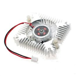 Wholesale Video Processors - Wholesale- PROMOTION! Hot New Metal VGA Video Card Cooler Heatsinks Cooling Fan for Your Processor