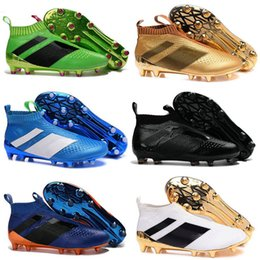 Wholesale Ground Body - Ace 16+ Purecontrol Primeknit Soccer Cleats Firm Ground Cleats Trainers NSG FG CG ACE 16 Mens Football Boots Soccer Shoes
