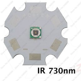 Wholesale Ir Led 8mm - Wholesale- 5pcs 3W 3535 Epileds Infrared IR 730NM High Powe LED Light Emitter Diode on 8mm   12mm  14mm   16mm   20mm Star PCB