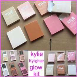 Wholesale Cotton Stocks - In stock New Kylie Highlighter Cosmetics Kylighter banana split Strawberry Shortcake Candy Cream French Vanilla Cotton Candy 6colors