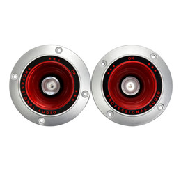 Altoparlanti stereo per auto online-Wholesale- 2pcs 4 pollici 4ohm 20W plastica subwoofer auto colorato lampeggiante treble Round stereo stadio dedicato dedicato
