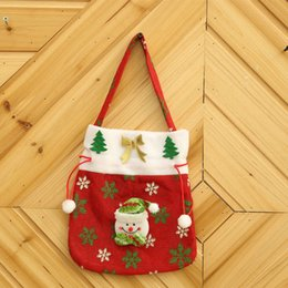 Wholesale Goody Bags - Christmas Treat Bags Christmas Treat Holders Christmas Candy Bag Party Goody Bags Santa Xmas Bag for Candy Gift