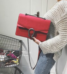 Wholesale Snake Chain Pink - Free shipping 2017 Star with a wine bag shoulder messenger bag tiger snake chain Dionysus women bag