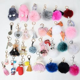 Wholesale Mink Car - Korean fashion new autumn and winter really rabbit fur mink bunny key chain key pendant wholesale
