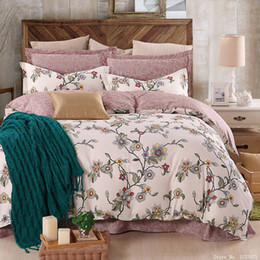 Wholesale linen king size bedspread - Wholesale- Fashion classical plant bedding set modern cartoon bed linen flower bedspreads duvet cover sets sheet twin full queen king size