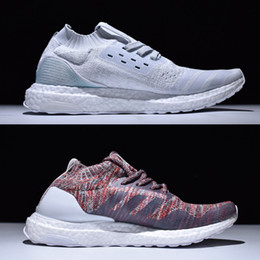 Wholesale Basketball Shoes For Women - Recycled Sneakers Ultra Boost Uncaged Arrived,UltraBoost Parley & Kith Aspen Running Shoes for Men & Women White Grey Multicolor With Box