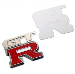 Wholesale Gtr Badge - 2pcs lot Automobile Accessories Car Body Styling Stickers With GTR Logo Badge Emblem