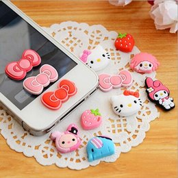 Wholesale Decorations For Iphone Button - Cartoon Home Button Stickers For iPhone 6 6S 6S Plus 5 5S 4 4S DIY Phone Decoration Sticker