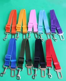 Wholesale Seatbelt Harness - Dog Adjustable Car Vehicle Safety Seat Belt Harness Lead for Cat Dog Pet 2.5cm seatbelt dog chain 9 Colors 50pcs