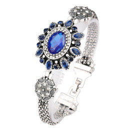Wholesale Bohemian Retro - Bohemian Retro Silver Resin Crystal Bracelet Bracelet For Women