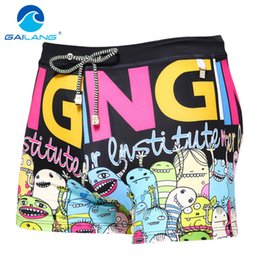 Wholesale High Rise Swimsuits - Wholesale- Gailang Brand Men Swimwear Swimsuits Swim Boxer Trunks Board Surfing Shorts Basic High Rise Pad Front Enhance Swimming Wear