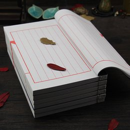 Wholesale Chinese Xuan Paper - Wholesale- premium 16*26cm 50 sheets xuan paper writing book chinese calligraphy practice book chinese traditional notebook