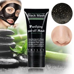 Wholesale Nose Mask Cleansing Remove - Hot Selling 50ml SHILLS Deep Cleansing purifying peel off Black mud Facail face mask Remove blackhead facial mask Smooth Skin Shill