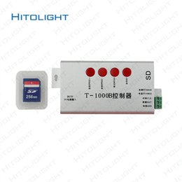 Wholesale led sd card controller - HITOLIGHT T-1000B DC5V 256MB SD Card WS2801 WS2811 WS2812B LPD6803 LED 2048 Pixels Controller for Full Color LED Strip