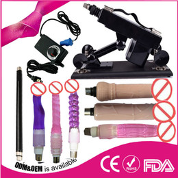Wholesale Machine Sex Women Men - Luxury Automatic Sex Machine Gun Set for Men and Women Machine with Male Masturbation Cup and Big Dildo Sex Toy