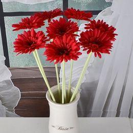 Wholesale Decorative Vase Floor - Flower Artificial Silk Flower Floor Decor Wedding Calliopsi for Party Supplies Decorative Chrysanthemum Vase Bottle Decorative Vase