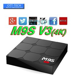 Wholesale Play Install - 2017 RK3229 M9S V3 android 6.0 tv boxes KDplayer 17.3 installed 4K HDR H.265 HEVC 3D Movies play Private model 1GB 8GB WIFI set top box